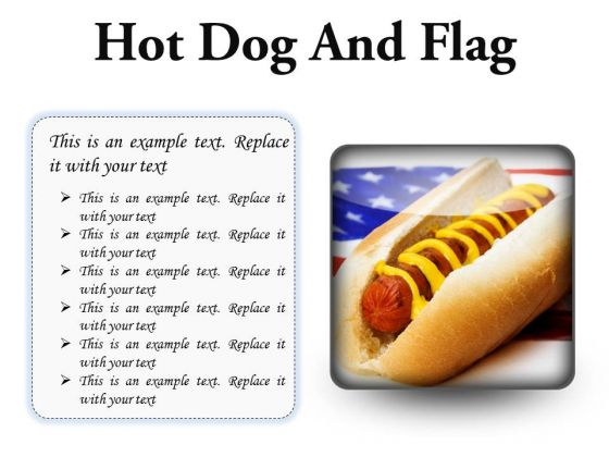 Hot Dog And Flag Food PowerPoint Presentation Slides S