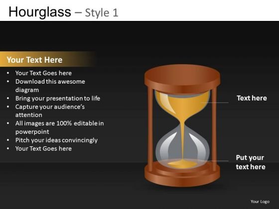 Hourglass Concept PowerPoint Clipart Graphics Slides