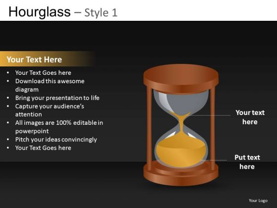 Hourglass Deadline Near PowerPoint Ppt Slides