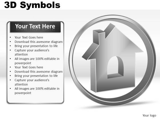 House 3d Symbols PowerPoint Slides And Ppt Diagram Templates