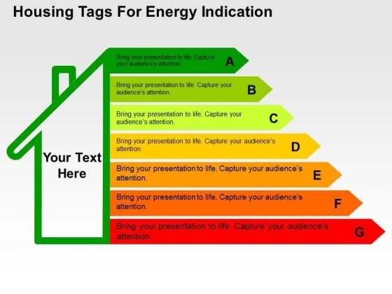 Housing Tags For Energy Indication PowerPoint Template