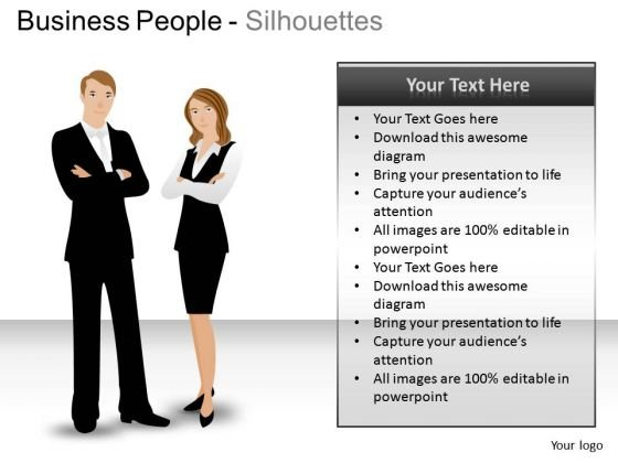 Hr Business People Silhouettes PowerPoint Slides And Ppt Diagram Templates
