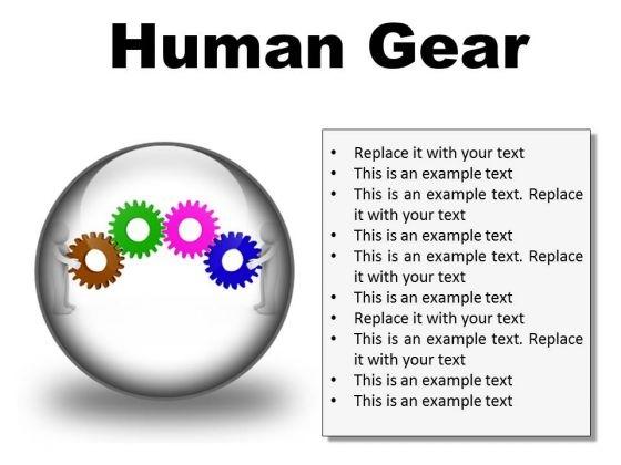 Human Gear Industrial PowerPoint Presentation Slides C