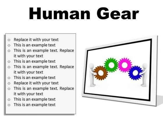 Human Gear Industrial PowerPoint Presentation Slides F