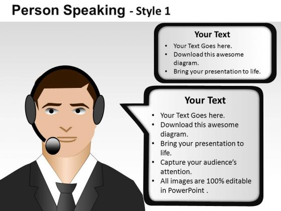 Human Person Speaking 1 PowerPoint Slides And Ppt Diagram Templates