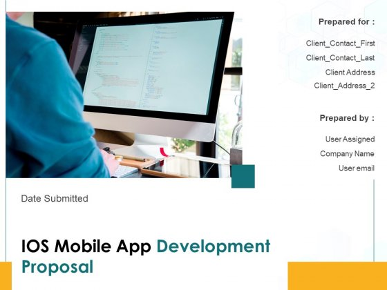 IOS Mobile App Development Proposal Ppt PowerPoint Presentation Complete Deck With Slides