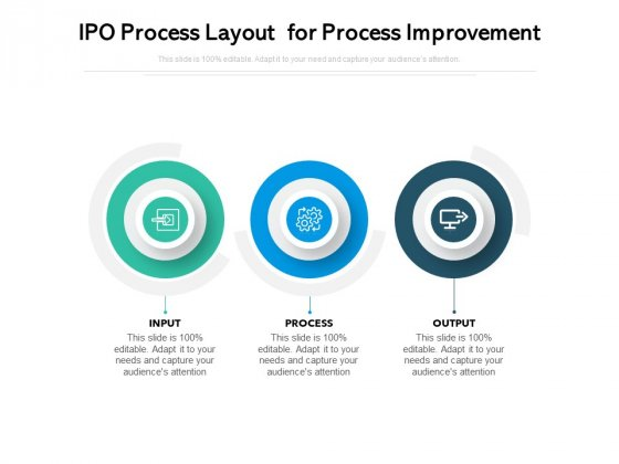 IPO Process Layout For Process Improvement Ppt PowerPoint Presentation Infographics Inspiration PDF