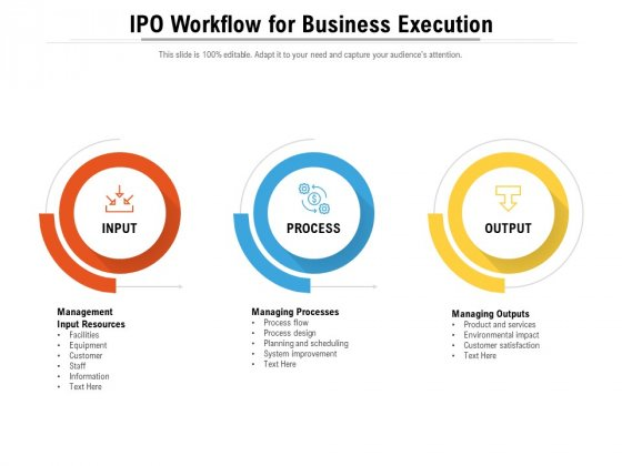 IPO Workflow For Business Execution Ppt PowerPoint Presentation File Introduction PDF