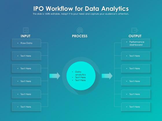 IPO Workflow For Data Analytics Ppt PowerPoint Presentation File Slide PDF