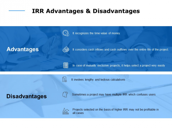 irr advantages and disadvantages ppt powerpoint presentation infographics template