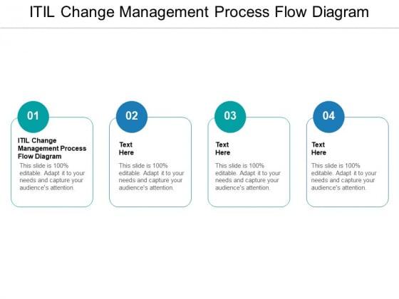ITIL Change Management Process Flow Diagram Ppt PowerPoint Presentation Infographics Background Cpb