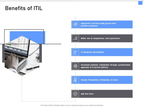 ITIL Framework And Processes Benefits Of ITIL Ppt Icon Show PDF
