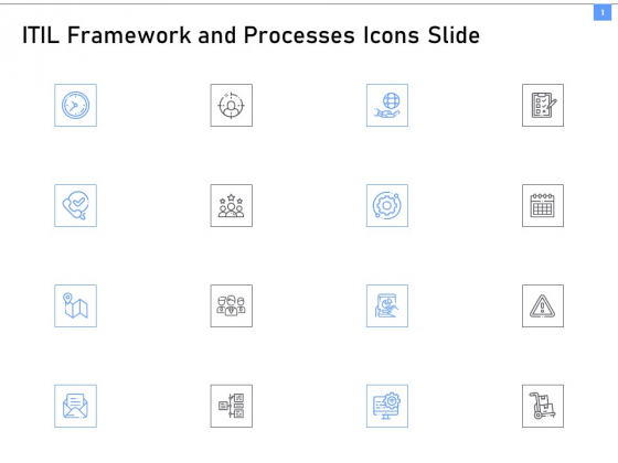 ITIL Framework And Processes Icons Slide Ppt Infographic Template Influencers PDF