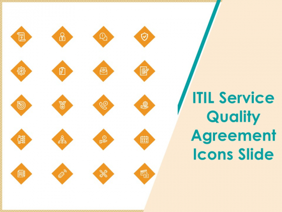 ITIL Service Quality Agreement Icons Slide Ppt Pictures Themes PDF