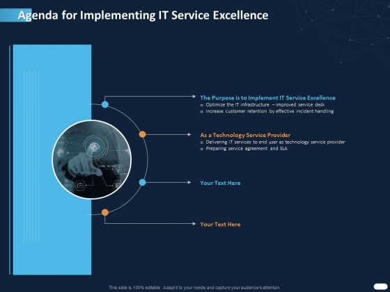 ITIL Strategy Service Excellence Agenda For Implementing IT Service Excellence Ppt PowerPoint Presentation Infographic Template Graphics PDF