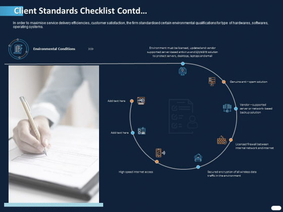 ITIL Strategy Service Excellence Client Standards Checklist Contd Ppt PowerPoint Presentation Styles Example PDF