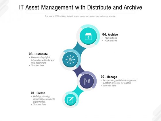 IT Asset Management With Distribute And Archive Ppt PowerPoint Presentation Professional Topics PDF
