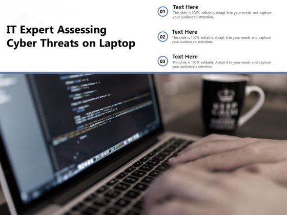 IT Expert Assessing Cyber Threats On Laptop Ppt PowerPoint Presentation Gallery Brochure PDF