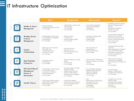IT Infrastructure Governance IT Infrastructure Optimization Ppt Model Structure PDF