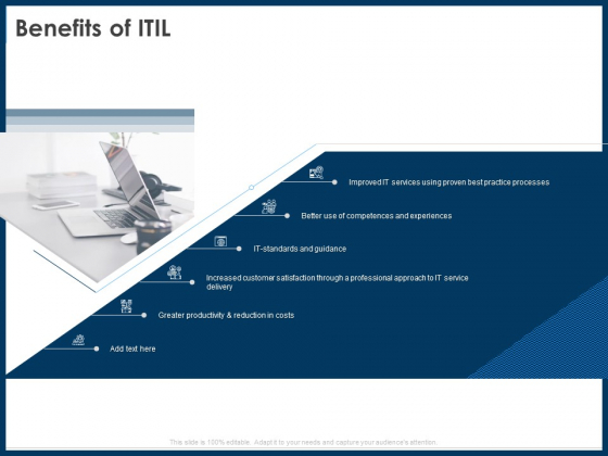 IT Infrastructure Library Service Quality Administration Benefits Of ITIL Ppt Show Mockup PDF