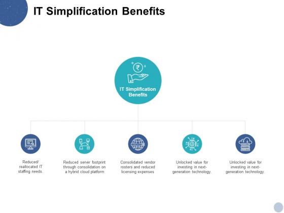 IT Simplification Benefits Ppt PowerPoint Presentation Layouts Design Inspiration