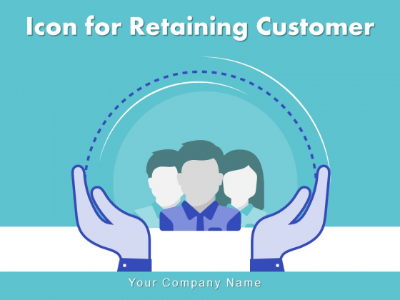 Icon For Retaining Customer Circle Arrow Document Employee Retention Ppt PowerPoint Presentation Complete Deck