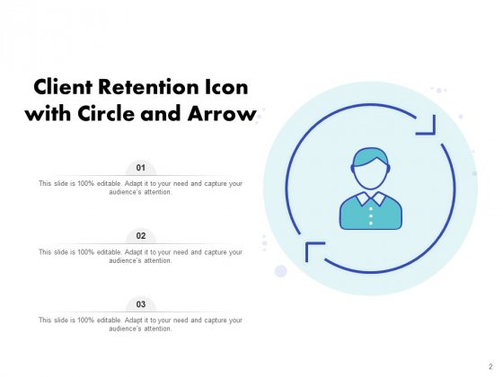 Icon_For_Retaining_Customer_Circle_Arrow_Document_Employee_Retention_Ppt_PowerPoint_Presentation_Complete_Deck_Slide_2