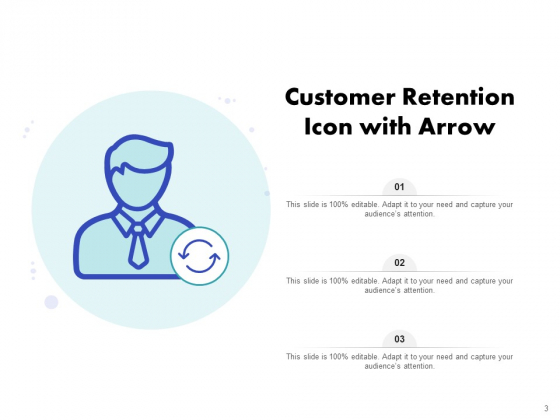 Icon_For_Retaining_Customer_Circle_Arrow_Document_Employee_Retention_Ppt_PowerPoint_Presentation_Complete_Deck_Slide_3