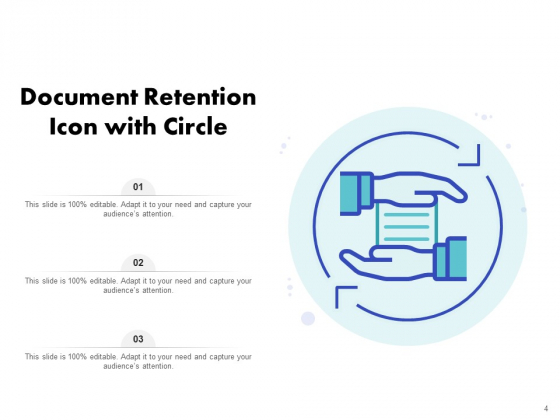 Icon_For_Retaining_Customer_Circle_Arrow_Document_Employee_Retention_Ppt_PowerPoint_Presentation_Complete_Deck_Slide_4