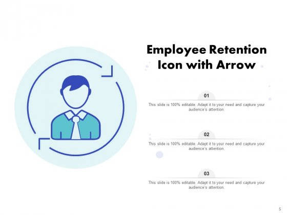 Icon_For_Retaining_Customer_Circle_Arrow_Document_Employee_Retention_Ppt_PowerPoint_Presentation_Complete_Deck_Slide_5