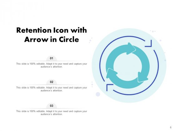 Icon_For_Retaining_Customer_Circle_Arrow_Document_Employee_Retention_Ppt_PowerPoint_Presentation_Complete_Deck_Slide_6
