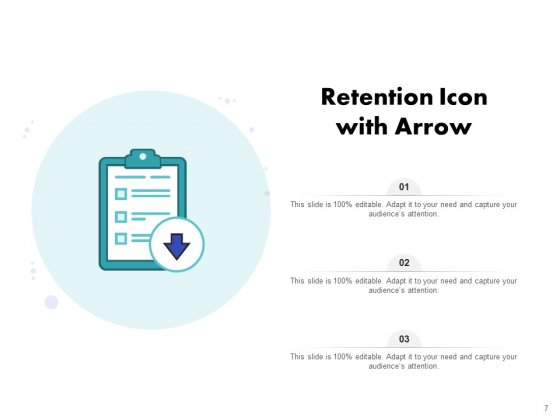 Icon_For_Retaining_Customer_Circle_Arrow_Document_Employee_Retention_Ppt_PowerPoint_Presentation_Complete_Deck_Slide_7