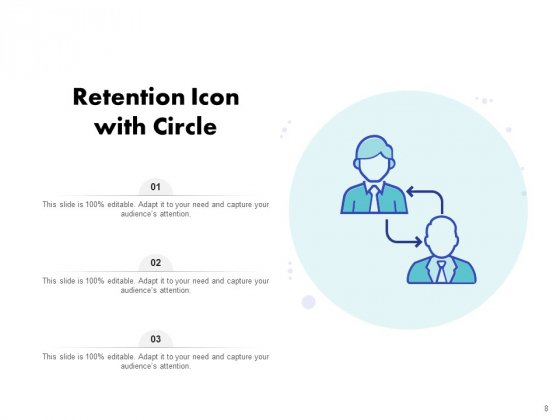 Icon_For_Retaining_Customer_Circle_Arrow_Document_Employee_Retention_Ppt_PowerPoint_Presentation_Complete_Deck_Slide_8