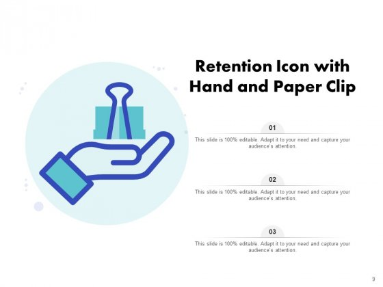 Icon_For_Retaining_Customer_Circle_Arrow_Document_Employee_Retention_Ppt_PowerPoint_Presentation_Complete_Deck_Slide_9