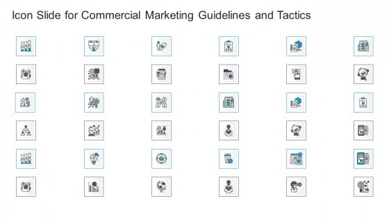Icon Slide For Commercial Marketing Guidelines And Tactics Mockup PDF