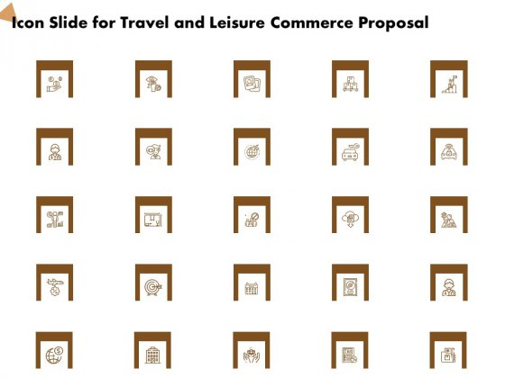Icon Slide For Travel And Leisure Commerce Proposal Ppt Professional Graphic Images PDF
