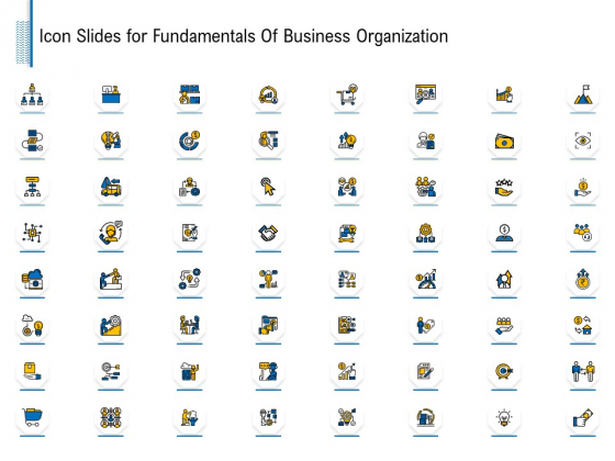 Icon Slides For Fundamentals Of Business Organization Ppt Ideas Example File PDF