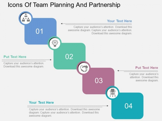 Icons Of Team Planning And Partnership Powerpoint Templates