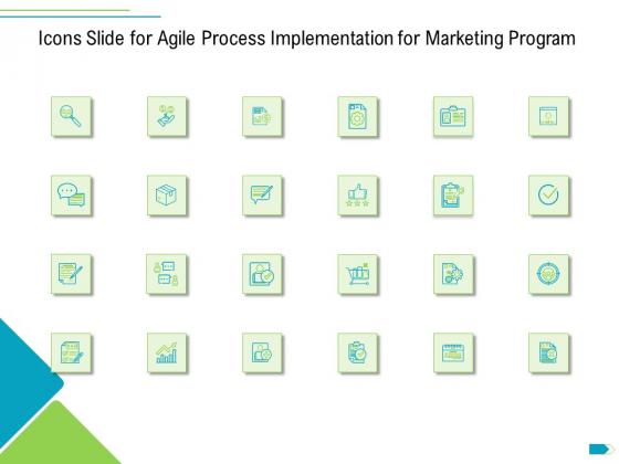 Icons Slide For Agile Process Implementation For Marketing Program Ppt Gallery Model PDF