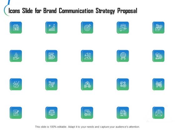 Icons Slide For Brand Communication Strategy Proposal Ppt Slides Backgrounds PDF