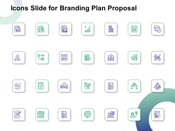 Icons Slide For Branding Plan Proposal Ppt Layouts Portrait PDF