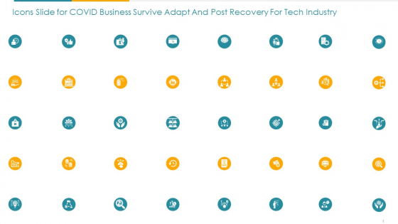 Icons Slide For Covid Business Survive Adapt And Post Recovery For Tech Industry Ppt Portfolio Rules PDF