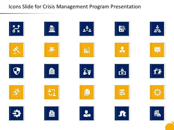 Icons Slide For Crisis Management Program Presentation Ppt Layouts Structure PDF