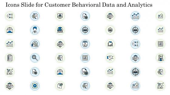 Icons Slide For Customer Behavioral Data And Analytics Inspiration PDF