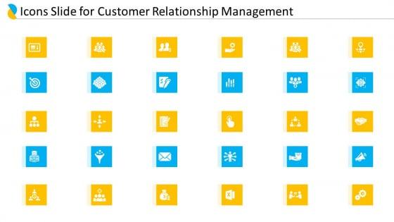 Icons Slide For Customer Relationship Management Ppt Inspiration Examples PDF