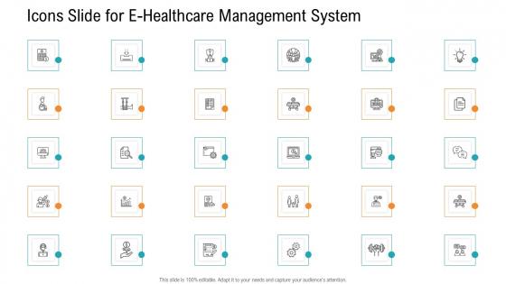 Icons Slide For E Healthcare Management System Formats PDF