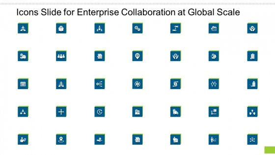 Icons Slide For Enterprise Collaboration At Global Scale Ppt Model Diagrams PDF