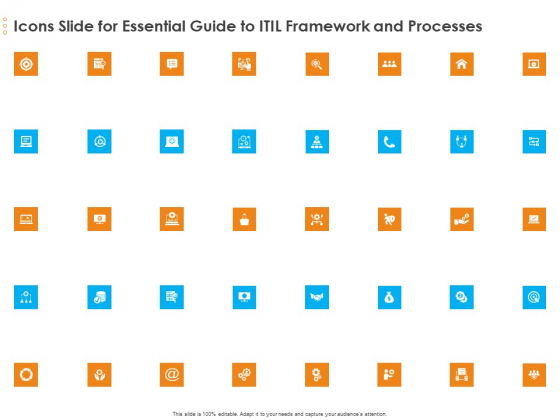 Icons Slide For Essential Guide To ITIL Framework And Processes Microsoft PDF