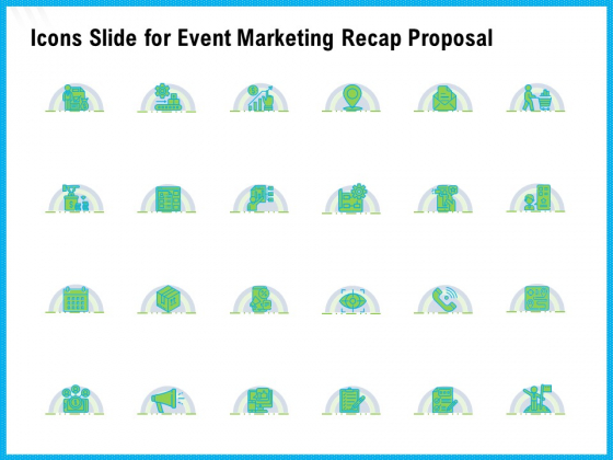 Icons Slide For Event Marketing Recap Proposal Ppt Infographic Template Designs Download PDF