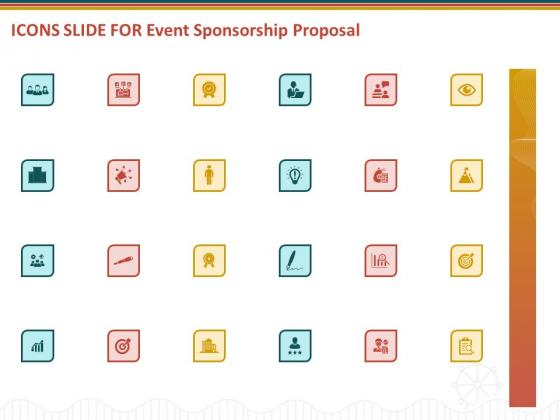 Icons Slide For Event Sponsorship Proposal Ppt Inspiration Show PDF